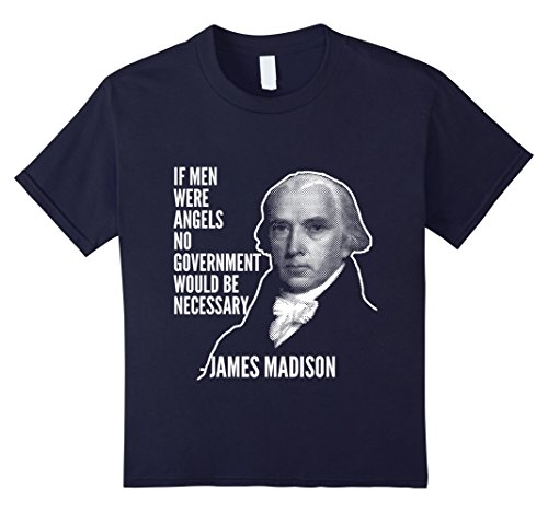 Kids If Men Were Angels James Madison Founding Fathers Usa Tee 12 Navy
