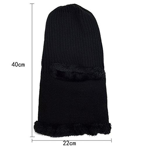 Lana Beanie Negro Oreja Hat Oreja Aisi Hombre Mujer Gorras Cap Invierno B7SzOwq