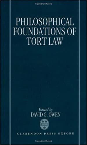 philosophical foundations of tort law david g owen  philosophical foundations of tort law 1st edition