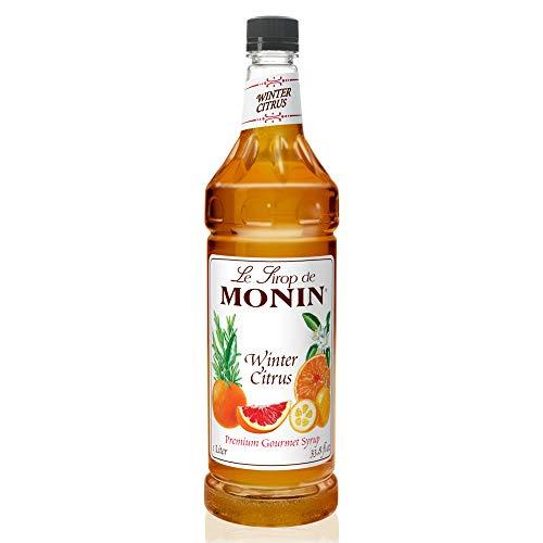 Monin - Winter Citrus Syrup, Blend of Citrus, Honey, Herbs, Great for Iced Tea, Winter Cocktails, and Sparkling Ciders, Gluten-Free, Vegan, Non-GMO, PET Bottle (1 Liter)