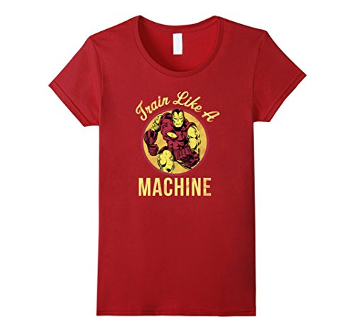 aaaefb57 Women's Marvel Iron Man Train Like a Machine Graphic T-Shirt Small  Cranberry - Buy Online in Oman. | Apparel Products in Oman - See Prices,  Reviews and Free ...