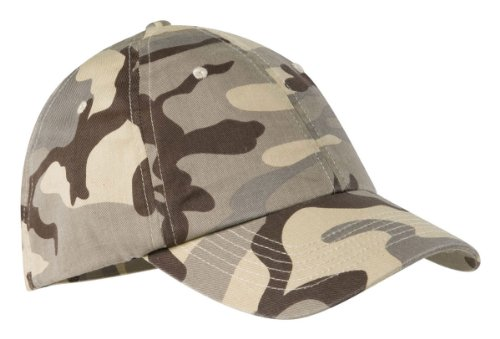 Port Authority Camouflage Cap, Desert Camo, (Wholesale Camo Caps)