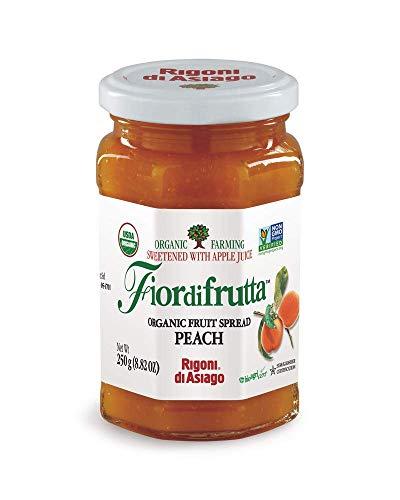 Rigoni di Asiago Fiordifrutta Organic Fruit Spread, Peach, 6 Count