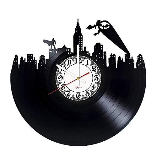 Batman Superheroes Handmade Vinyl Record Wall Clock - Get unique bedroom wall decor - Gift ideas for friends, boys - Comics Unique -