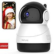 #LightningDeal 95% claimed: Victure 1080P FHD WiFi IP Camera Indoor Wireless Security Camera with Motion Detection Night Vision Home Surveillance Monitor with 2-Way Audio for Baby/Pet/Elder with iOS/Android