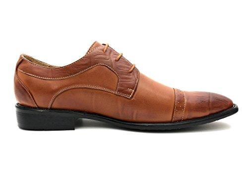 Easy Strider Mens Stylish Two-Tone Look Dress Shoe Regular and Big & Tall Sizes Tan fsDemjpF5s
