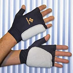 Anti Impact Glove, Fingerless, Double Padded Palm, Left Hand ONLY, XLarge