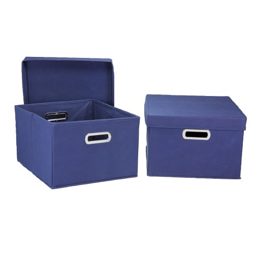 Household Essentials Fabric Storage Boxes with Lids and -
