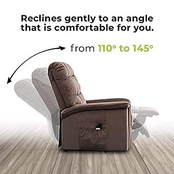 BONZY Lift Recliner Chair Power Lift Chair with Gentle Motor Velvet Cover Modern Design – Chocolate