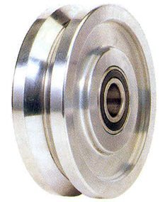 6'' x 1-13/16'' Mighty V-Groove Steel Wheel, 6000 lb Capacity 5/8 Bore by Access Casters Inc. (Image #1)