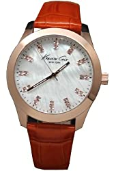Kenneth Cole New York Three-Hand Leather - Orange Women's watch #KCW2023