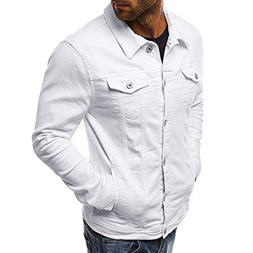 Uomo Con Sportiva Tuta Casual In Bianco Denim Camicia Famesale Giacca Cappuccio Da qYaIIw