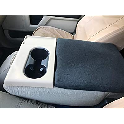 AVOMAR Black Center Console Armrest Cover Soft Pad Protector Cover Fits Ford F150 F250 Truck Series 2010-2020: Automotive