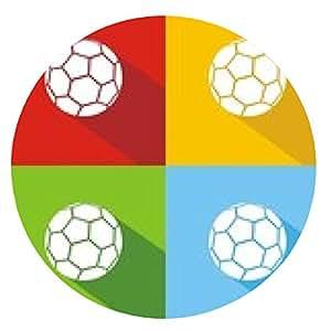 alfombrilla de ratón Iconos balón fútbol colores sombra - ronda - 20cm