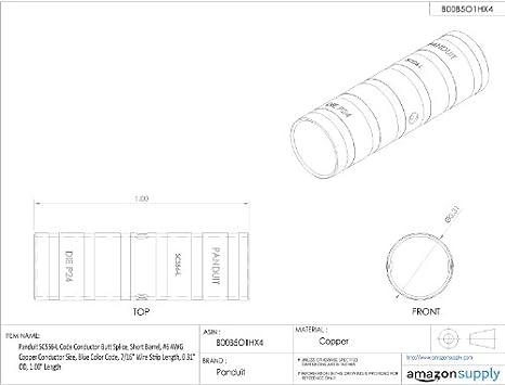 Panduit Scss6 L Code Conductor Butt Splice Short Barrel 6 Awg