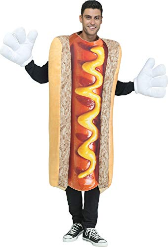 Fun World Men's Photoreal Hot Dog, Multi, Standard -