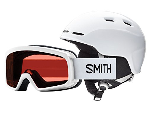 - Smith Optics Youth Zoom Jr/Gambler Combo Ski Snowmobile Helmet - White/Youth Medium