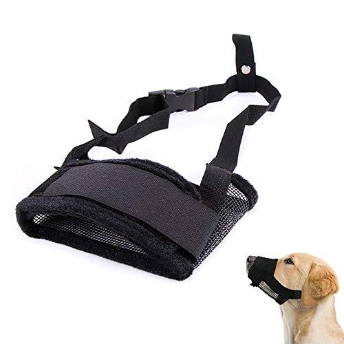 Branger Dog Muzzle Grazing Muzzle Plastic Cement Material Adjustable Neck Strap with Quick Release Buckle Dog Muzzle