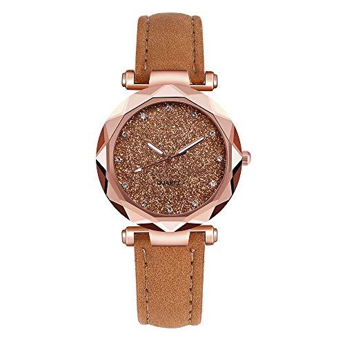chenqiu New Trend Korean Version of The Quartz Female Watch,Ladies' Stylish Watch Quartz with Leather Strap 33M ()