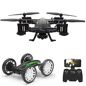 RC Flying Coche Drone con Cámara HD 2 en 1 Air-Road Double Model ...