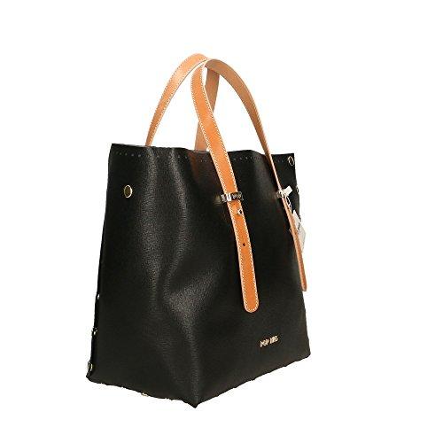 cuir en Sac Bags Italy Made Noir POP 28x27x13 à Vacch Saffiano véritable femme in Noir Cm Impression main W5YXdqdw