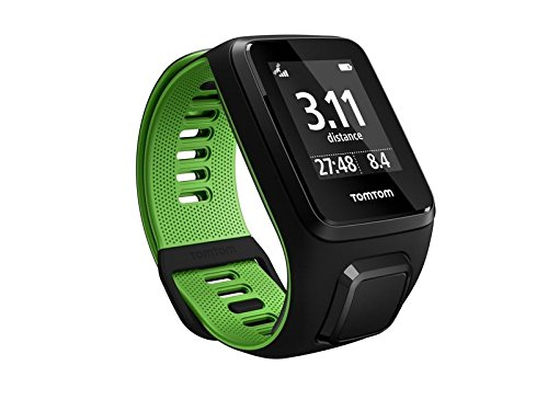 TomTom Runner 3 Small GPS Sports Watch, Color- Black/Green