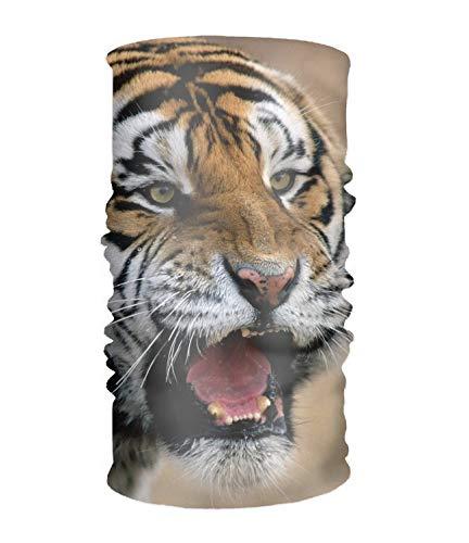 Headbands Outdoor Multifunctional Headwear Sports Magic Scarf Headband Animal Tiger Cats Roar