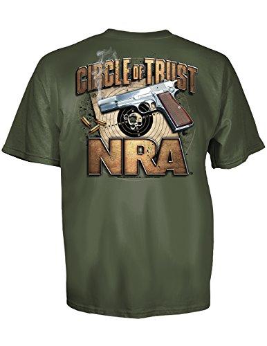 NRA Circle Of Trust - 45-caliber Handgun and Target T-Shirt