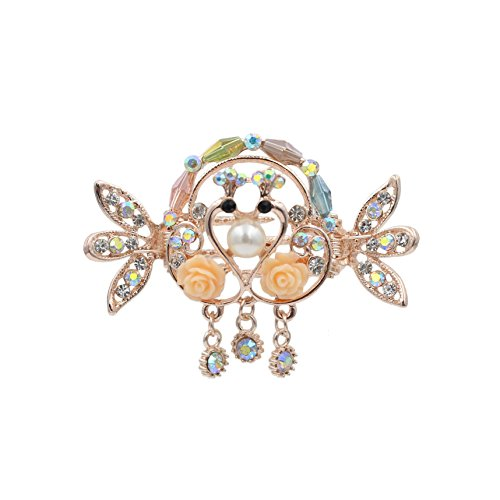 Totoroforet Kissing Swans True Love/ Swans in Love Hair Claw/ Clip with Pendant-Small Size (Multicolor) (Nerf Vintage compare prices)