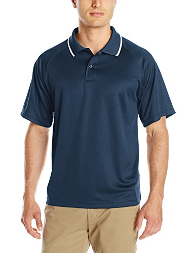 Charles River Apparel Men's Classic Wicking Polo, Navy, 5XL (Blend Pique Knit Sport Shirt)