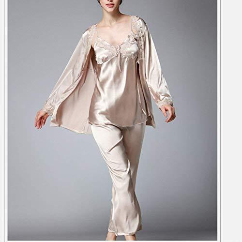 Manica Sleepwear Autunno Da Donna Lunga Costume Camel Set Pigiama Comodo Huixin Notte Camicia Pezzi 3 8APqvv