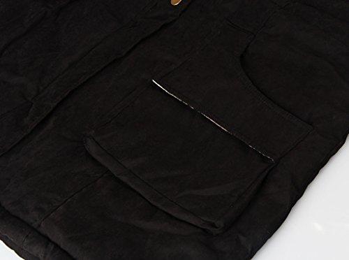 Noir Trench Femme Longues Blouson Multicolore 4HOW Manches 5YxRHqw8