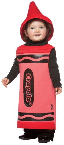 Crayola Crayon Baby Infant Costume Red - (Crayola Red Crayon Adult Costumes)