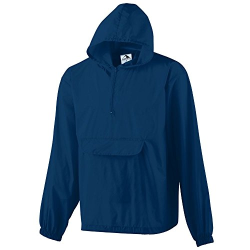 Augusta Sportswear MEN'S PULLOVER JACKET IN A POCKET 2XL NAVY