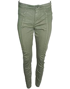 Guess Seamless Yoga Skinny Jean Flyaway Helmet Green Wash (29)