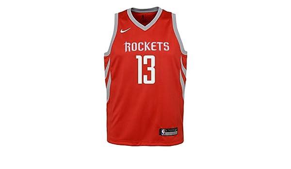 Nike NBA Houston Rockets James Harden 13 2017 2018 Icon Edition Jersey Oficial Away, Camiseta de Niño: Amazon.es: Deportes y aire libre