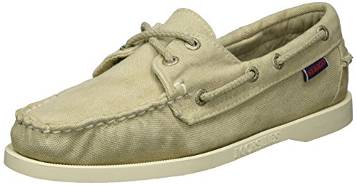 Sebago Docksides Boat Women's Beige Shoes Canvas Beige xASOqg