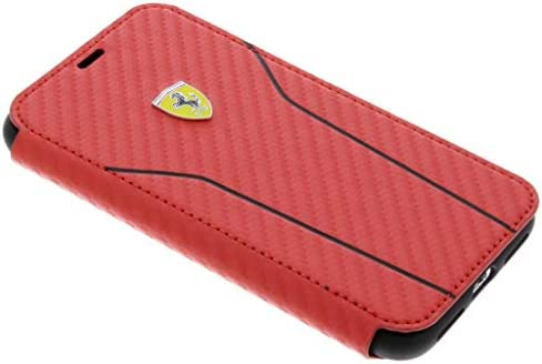 a32148b92e0 Ferrari - Funda de Piel sintética para Apple iPhone X, Color Rojo ...