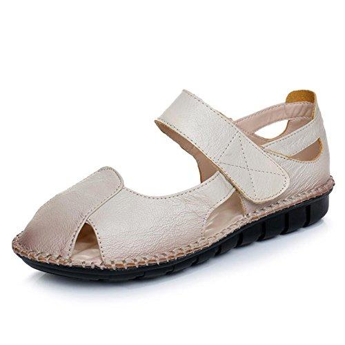 Plano De Verano Con Sandalias Planas Zapatos No Deslizante - Ocio Albaricoque
