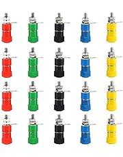20 Pcs Colorful Binding Post Speaker Terminal, Jack Terminal, Binding for 4MM Banana Plug Connectors