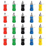 20 Pcs Colorful Binding Post Speaker Terminal Jack Terminal Binding for 4MM Banana Plug Connectors