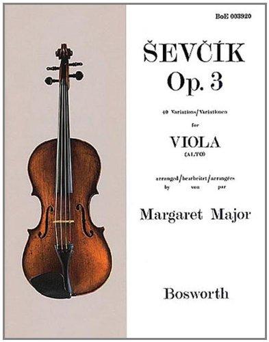 Sevcik Viola Studies. Opus 3. 40 Variationen für Viola