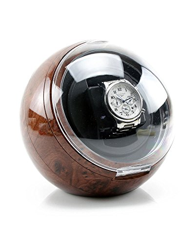 Versa Automatic Single Watch Winder in Burlwood by Versa
