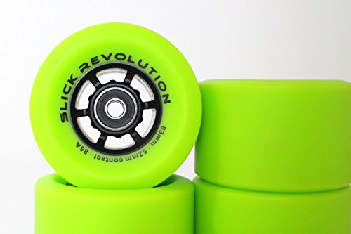 Slick Revolution® Green Electric Skateboard et roues Longboard