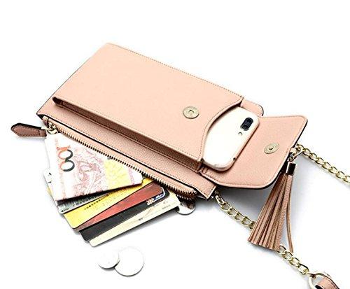 De Embrayage Simple De à De Sacs Main Portable Sacs Sauvage Mode Bandoulière Messager Sacs Téléphone Chaîne Sacs Sacs à pink g1Ugv