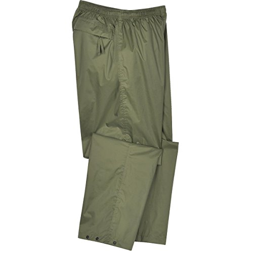 Gempler's 214443 Packable Rip-Stop Waterproof Breathable Rain Pants with Pocket, Size Medium Breathable Nylon Pant