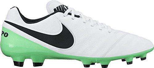 Bianco Green Verde Leather FG Blach electro Men's NIKE White Boots Genio Football II Tiempo xq8ZFB
