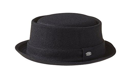 Wolle 'Breaking Bad' Style 'Pork Pie Hat-Schwarz Gr. L/XL (59 cm), Schwarz