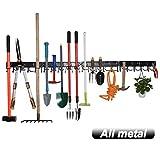 YueTong All Metal Garden Tool Organizer,Adjustable
