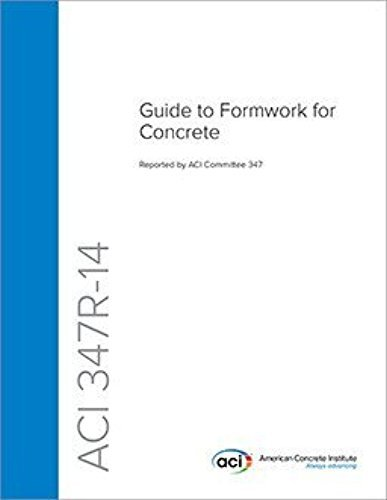 ACI 347-14 - Guide to Formwork for Concrete pdf epub